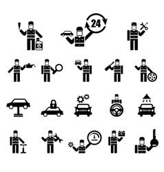 Auto repair icons vector