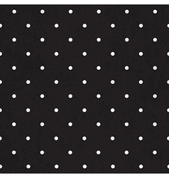 black polka dot background textured vector image