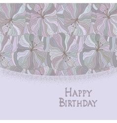 Boho style template happy birthday card design vector