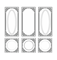 Decorative Ornamented frames vector image vector image
