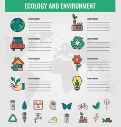 Ecology and environment infographics ecology vector