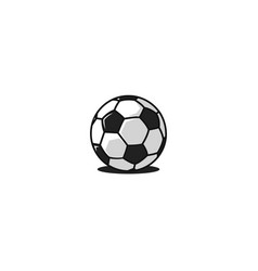 football ball logo traditional design black and vector image
