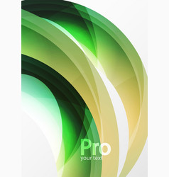 Futuristic hi-tech glass wave abstract background vector