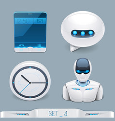 Futuristic multimedia devices and technology vector