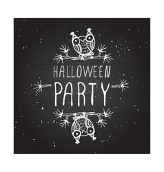Halloween party on chalkboard background vector