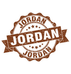 Jordan round ribbon seal vector
