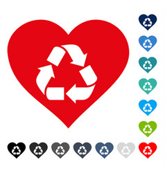 love recycle icon vector image