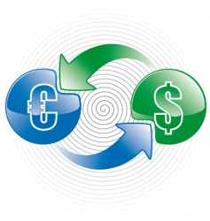money exchange icon vector image vector image