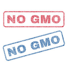 No gmo textile stamps vector