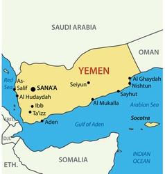 Republic of yemen - map vector