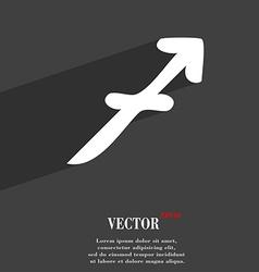 Sagittarius symbol Flat modern web design with vector image