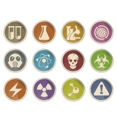 Science symbols icons vector