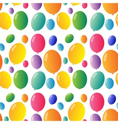 Seamless design with colorful balloons vector image vector image