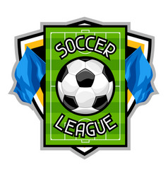 Soccer or football badge with ball sports emblem vector