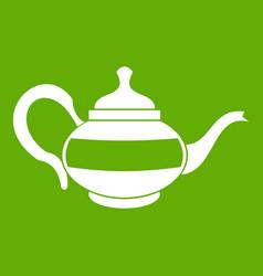 teapot icon green vector image