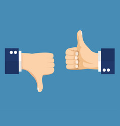 thumbs up and down vector image