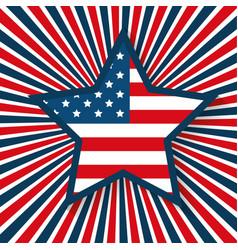 usa star emblem patriotic symbol vector image