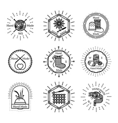 Vintage handmade badges and logo vector image vector image