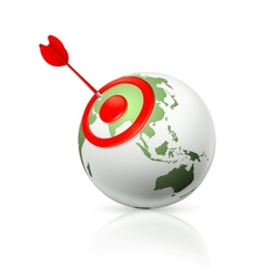 World target icon vector image