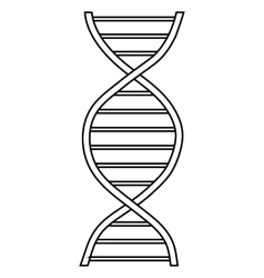 Dna sign icon outline style vector