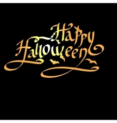 Happy halloween lettering greeting card vector