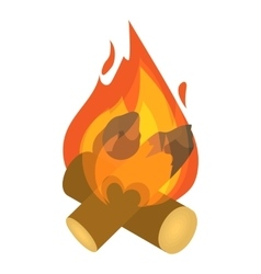 Burning bonfire icon isometric 3d style vector