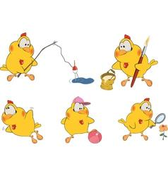Chicken clip art cartoon vector image