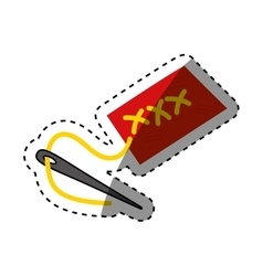Isolated sewing pin vector