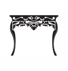 Vintage baroque rich table vector