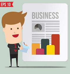 Business man writing a note - - eps10 vector