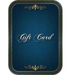 Gift card blue vector