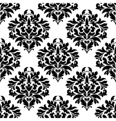 Arabesque seamless pattern with floral motifs vector