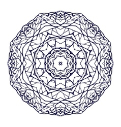 Round kaleidoscopic lace ornamental mandala vector