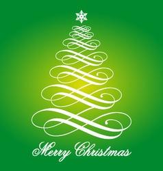 Green Christmas card vector image