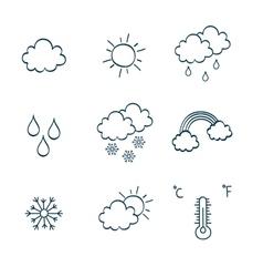 Hand-drawing notes simbols vector image