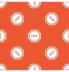 Orange stop sign pattern vector