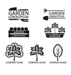 A set of garden logos vector