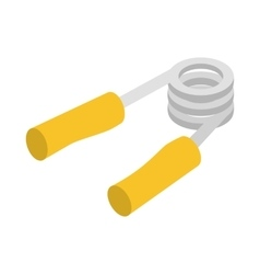 Hand grip exerciser or trainer icon vector