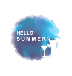 Summer background with cocktails vector