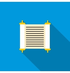 Torah scroll icon flat style vector