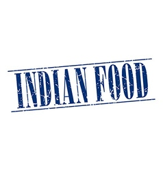 Indian food blue grunge vintage stamp isolated on vector