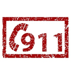 911 emergency grunge icon vector