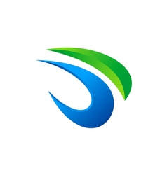 Abstract 3d shape logo vector