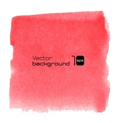 Water-colour red background for presentation vector