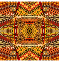 African motifs collage made of textile patchworks vector image vector image