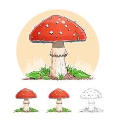 Amanita Mushroom vector image vector image