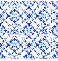 Blue background royal weave pattern vector