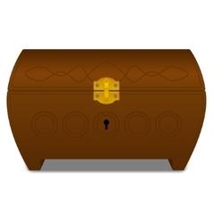 Brown casket vector image vector image