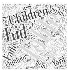 childrens picnic table Word Cloud Concept vector image vector image
