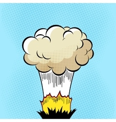 Cloud after the Boom Comic book explosion on vector image vector image